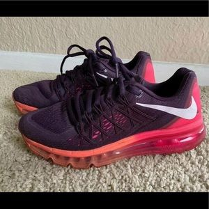 Nike air max 2015 in purple and pink size 6.5